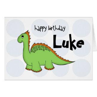dinosaur blank greeting card