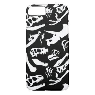 Dinosaur Bones (Black) iPhone 8/7 Case