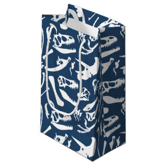 Dinosaur Bones (Blue) Small Gift Bag