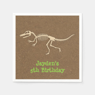 Dinosaur Bones Kids Birthday Party Supplies Disposable Napkin