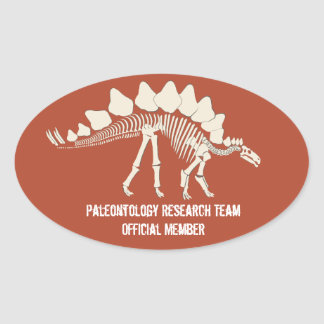 Dinosaur Bones Paleontology Customizable Badge Oval Sticker