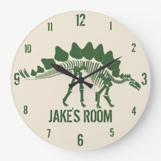 Dinosaur Bones Personalised Clock
