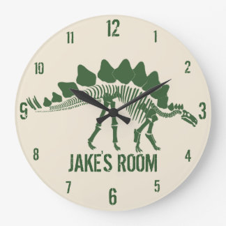 Dinosaur Bones Personalized Large Clock