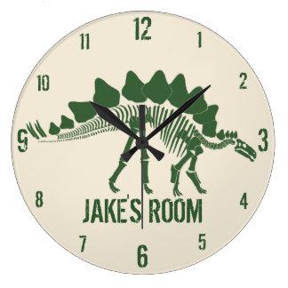 Dinosaur Bones Personalized Round Clock