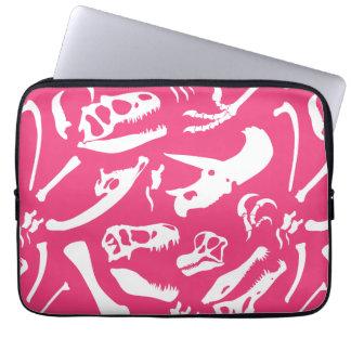 Dinosaur Bones (Pink) Laptop Sleeve