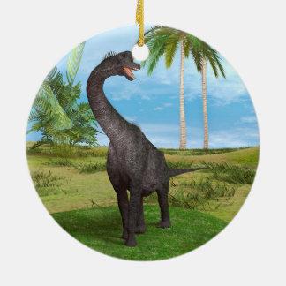 Dinosaur Brachiosaurus Round Ceramic Decoration