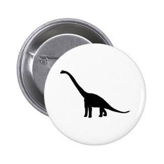 Dinosaur Brontosaurus Black and White 6 Cm Round Badge