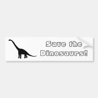 Dinosaur Brontosaurus Black and White Bumper Stickers