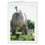 Dinosaur Brontosaurus Greeting Card
