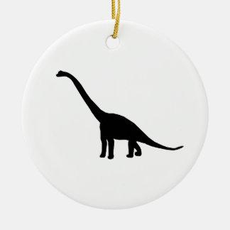Dinosaur Brontosaurus Silhouette Christmas Ornament