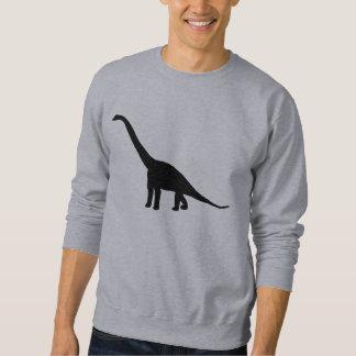 Dinosaur Brontosaurus Silhouette Sweatshirt