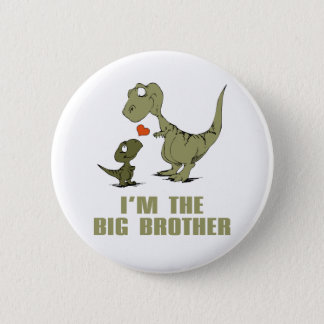 Dinosaur Brothers 6 Cm Round Badge