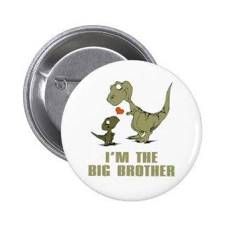 Dinosaur Brothers 6 Cm Round Badge