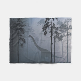 Dinosaur by Moonlight Small Fleece Blanket