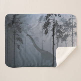 Dinosaur by Moonlight Small Sherpa Blanket