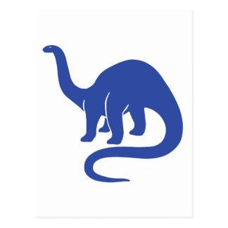 Dinosaur Card - Blue Post Card