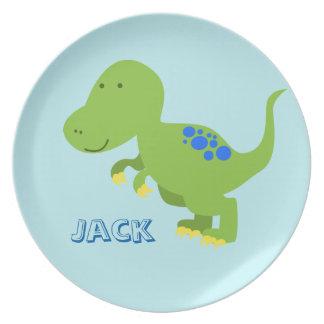 Dinosaur Children's Melamine Plate