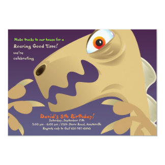 Dinosaur Closeup Birthday Party Invitation