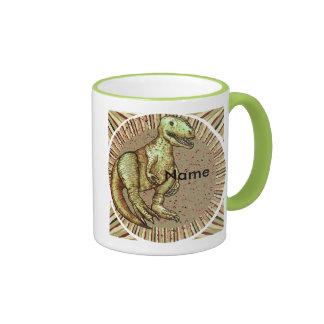 Dinosaur Custom Name Mugs