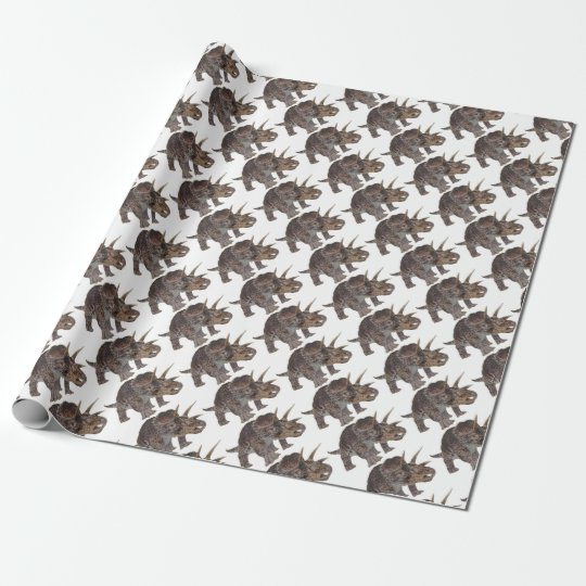 Dinosaur design wrapping paper