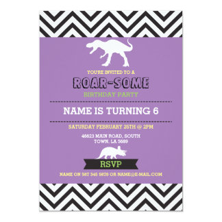 Dinosaur Dig Birthday Party T-Rex Dino Invite