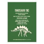 Dinosaur Dig Birthday Personalized Invite