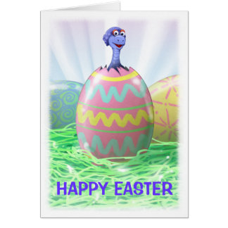 Dinosaur Easter Card