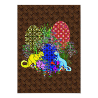 Dinosaur Easter Eggs 13 Cm X 18 Cm Invitation Card