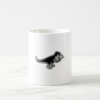 dinosaur eating jesus fish basic white mug