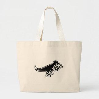 Dinosaur Eating Jesus Fish Large Tote Bag