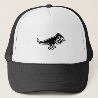 Dinosaur Eating Jesus Fish Trucker Hat