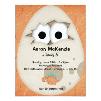 Dinosaur Egg 11 Cm X 14 Cm Invitation Card