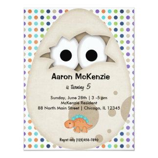 Dinosaur Egg 4.25x5.5 Paper Invitation Card