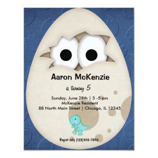 "Dinosaur Egg 4.25"" X 5.5"" Invitation Card"