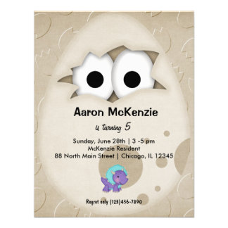 Dinosaur Egg Personalized Invitations