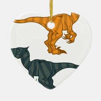 Dinosaur evil ceramic heart decoration