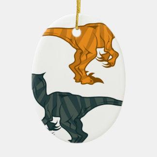 Dinosaur evil ceramic oval decoration