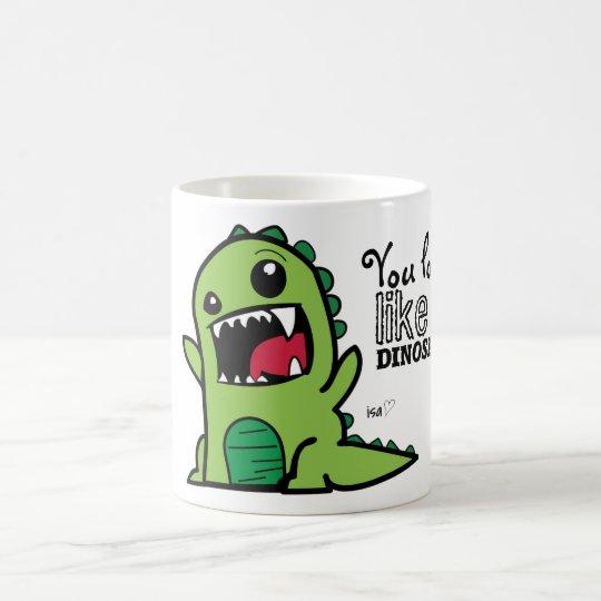 Dinosaur Face Coffee Mug