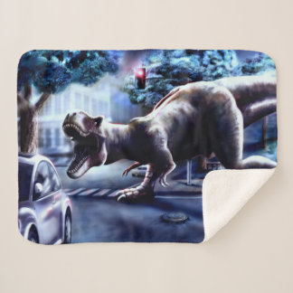 Dinosaur Fantasy Small Sherpa Fleece Blanket