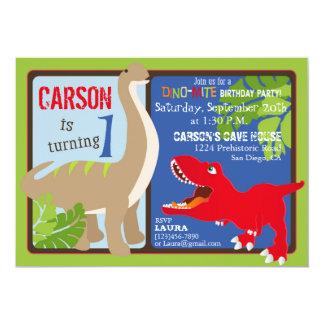 Dinosaur First Birthday Invitation Card