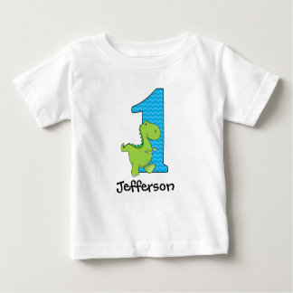 Dinosaur First Birthday Tshirt Personalised
