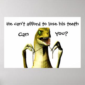 Dinosaur Flossing poster