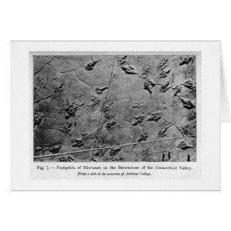Dinosaur footprints art card