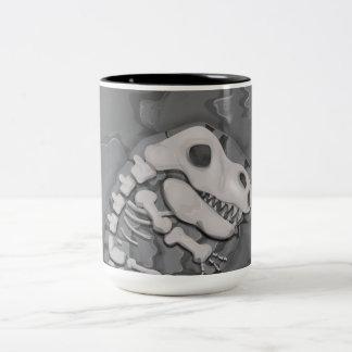 Dinosaur Fossil Two-Tone Mug