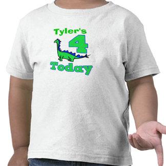 Dinosaur Fourth Birthday Boy Shirt
