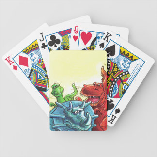 Dinosaur Friends Bicycle Playing Cards