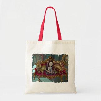 Dinosaur Friends I rococo lowbrow gothic Bag
