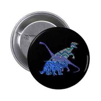 Dinosaur Gang 6 Cm Round Badge