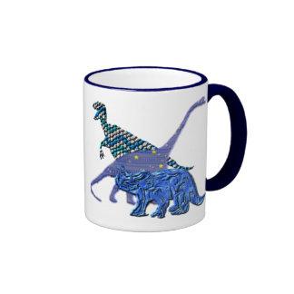 Dinosaur Gang Ringer Mug
