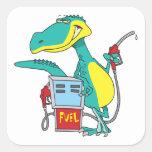 dinosaur gas pump fossil fuel cartoon stickers